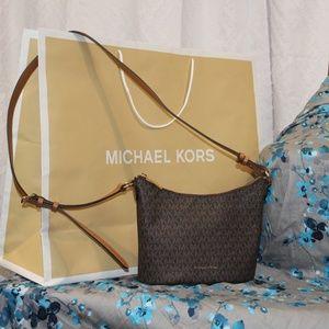 Michael Kors Sm Junie Logo Shoulder Bag